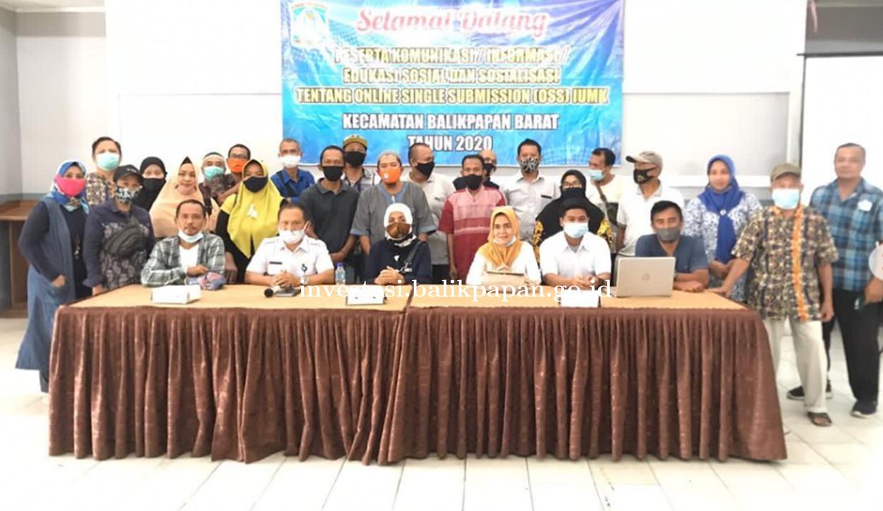 Sosialisasi IUMK via OSS bersama 33 RT Kelurahan Baru Tengah  Kecamatan Balikpapan Barat
