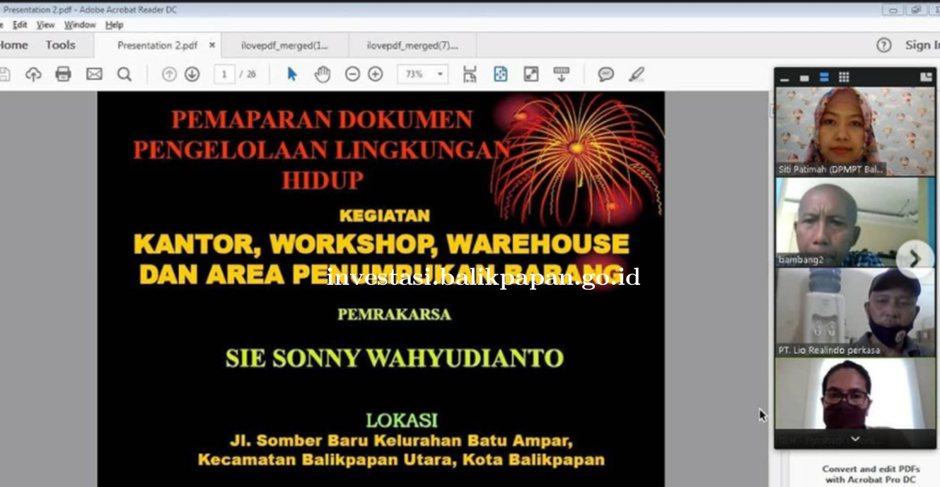 Rapat Izin Dokumen Pengelolaan Lingkungan Hidup (DPLH) bersama Sie Sonny Wahyudianto