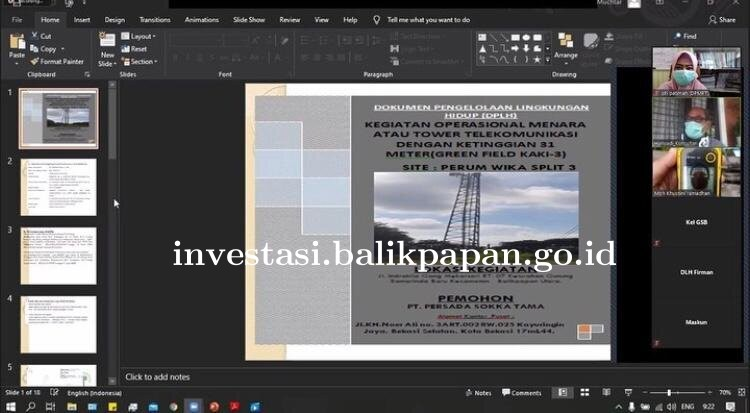 Rapat Pembahasan Dokumen Pengelolaan Lingkungan Hidup Kegiatan Operasional Menara atau Tower Telekom